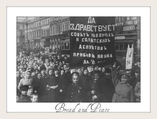 Mujeres rusas protestando. (en un estado machista)